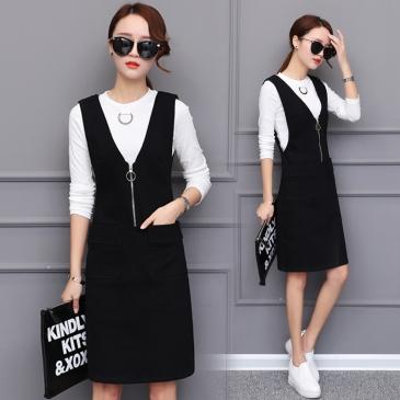 2018-new-spring-suspender-suit-two-pieces-slim-dress-female-Korean-fashion-dress-backing